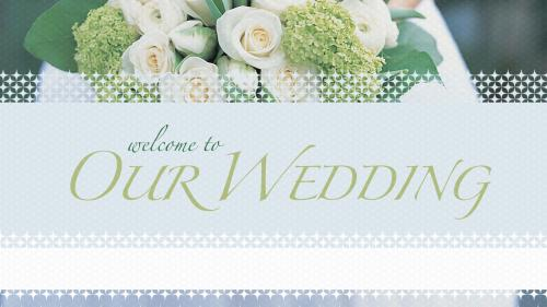 PowerPoint Template on Welcome Wedding