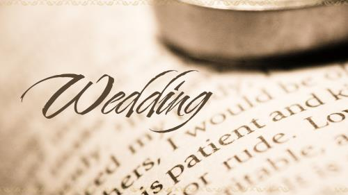 PowerPoint Template on Wedding Ring Bible