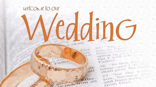 PowerPoint Template on Wedding Welcome Bible Rings
