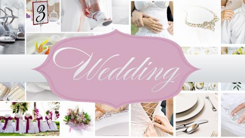 PowerPoint Template on Wedding Collage