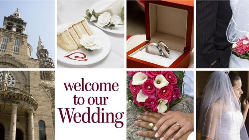 PowerPoint Template on Wedding Welcome Collage