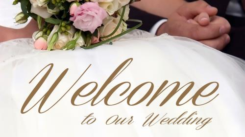 PowerPoint Template on Wedding Welcome Bouquet