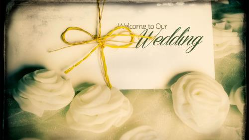 PowerPoint Template on Wedding Welcome Roses