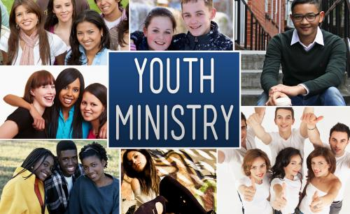 PowerPoint Template on Youth Ministry Collage