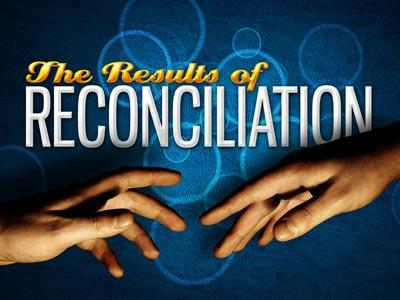 PowerPoint Template on Results Of Reconciliation