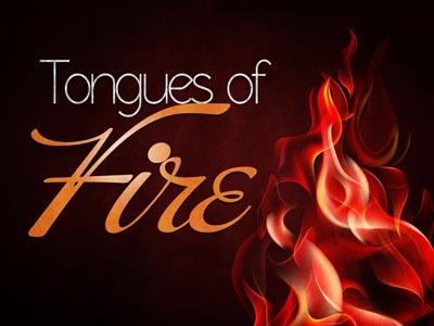 PowerPoint Template on Tongues Of Fire