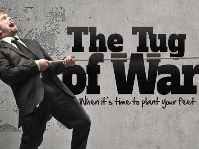 PowerPoint Template on Tug Of War