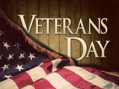PowerPoint Template on Veterans Day Flag