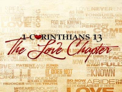 PowerPoint Template on 1  Corinthians 13  Love  Chapter