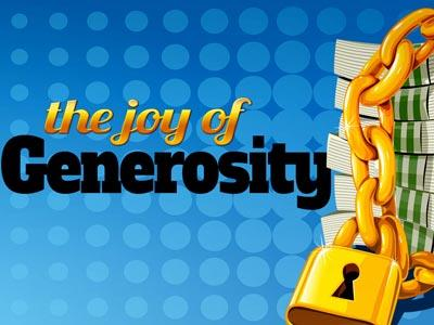 PowerPoint Template on The Joy Of Generosity