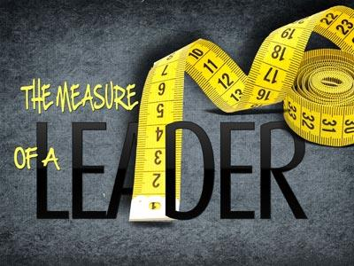 PowerPoint Template on The Measure Of A Leader