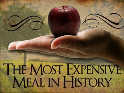 church powerpoint template: the most expensive meal in history, Modern powerpoint