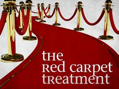PowerPoint Template on The Red Carpet Treatment