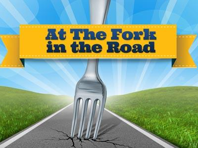 PowerPoint Template on A  Fork In The  Road