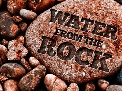 PowerPoint Template on Water From The Rock