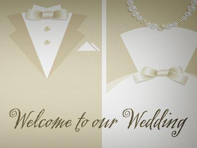 Church Powerpoint Template: Wedding Welcome Bible Rings