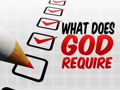 view the PowerPoint Template What Does God Require