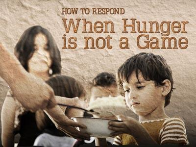 PowerPoint Template on When Hunger Is Not A Game