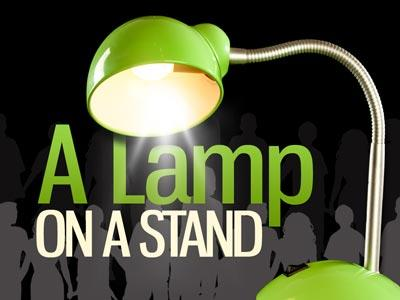 view the PowerPoint Template A  Lamp On A  Stand