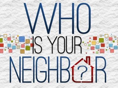 PowerPoint Template on Who Is Your Neighbor
