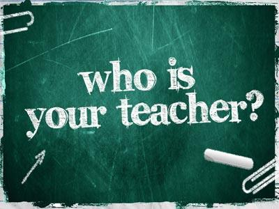 PowerPoint Template on Who Is Your Teacher