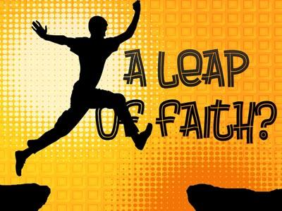 PowerPoint Template on A  Leap Of  Faith