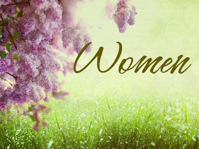 view the PowerPoint Template Women Flowers