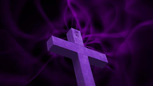 Motion Background on Cross Light Stream - Purple