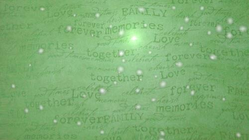 Motion Background on Family Love Through Glass - Green