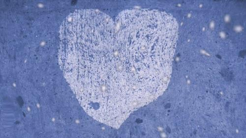media Glass Heart - Blue