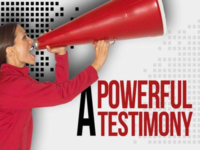 PowerPoint Template on A  Powerful  Testimony