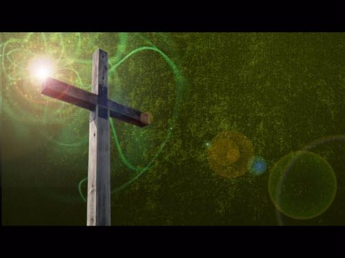 view the Motion Background Glowball Cross Grunge - Green