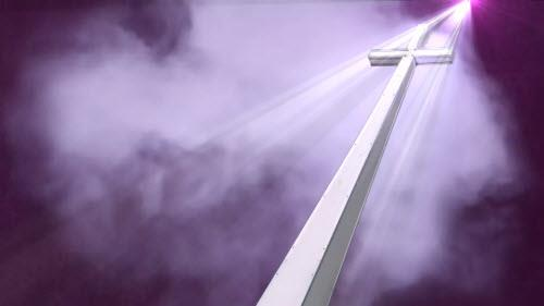 view the Motion Background Heavenly Cross - Maroon