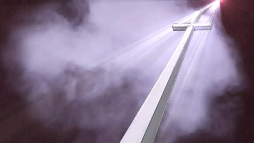 Motion Background on Heavenly Cross - Red