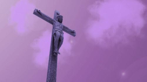 media Jesus Cloud Cross - Purple