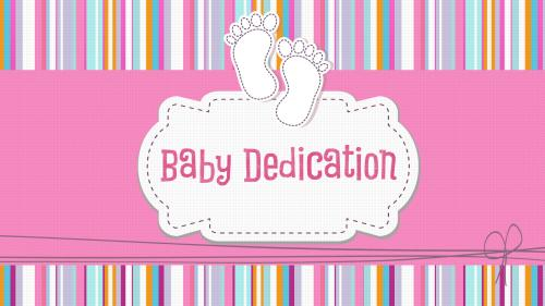 view the PowerPoint Template Baby Dedication