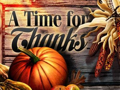 PowerPoint Template on A  Time For  Thanks