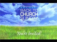 Motion Background on Back To Church Sunday - Open Field