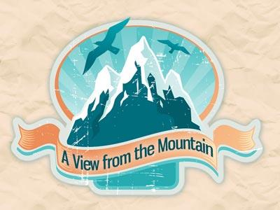 PowerPoint Template on A  View  From The  Mountain
