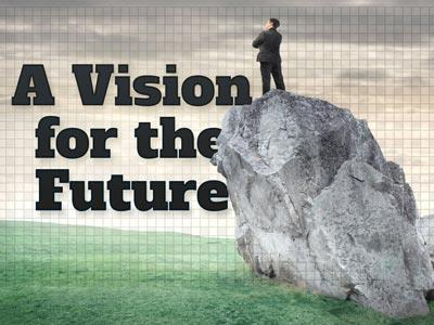 PowerPoint Template on A  Vision For The  Future