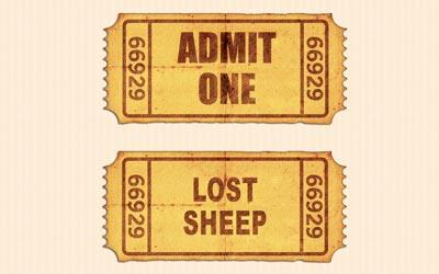 view the PowerPoint Template Admit  One  Lost  Sheep