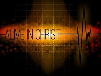 PowerPoint Template on Alive In  Christ