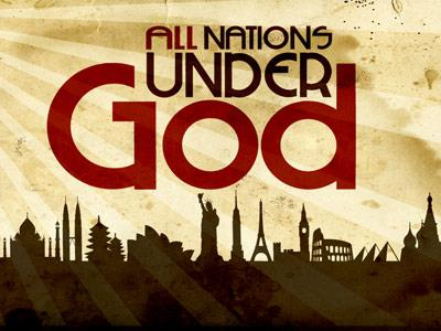 view the PowerPoint Template All  Nations  Under  God
