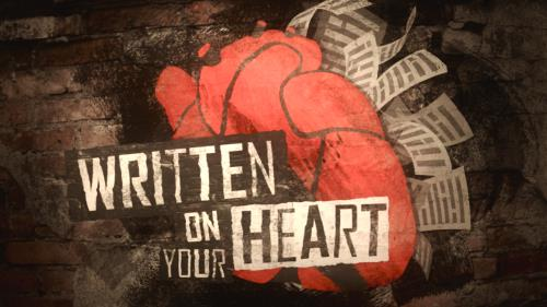 view the Video Illustration Written On Your Heart