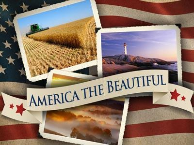 PowerPoint Template on America The  Beautiful