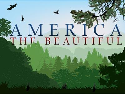 PowerPoint Template on America The  Beautiful 2