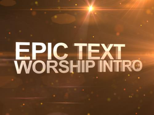 media Epic Text Worship Intro