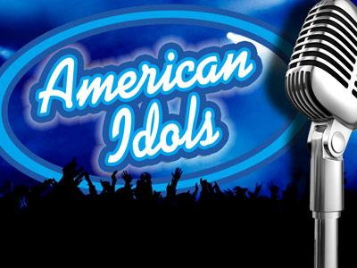 view the PowerPoint Template American  Idols