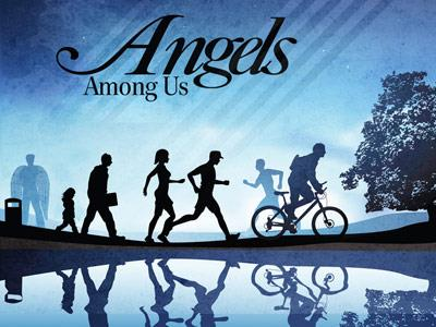 PowerPoint Template on Angels  Among  Us