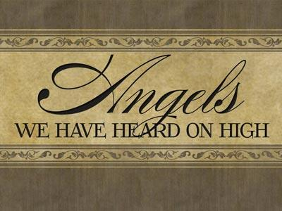 PowerPoint Template on Angels  We  Have  Heard On  High With  Lyrics
